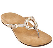 Vionic Orthotic Leather Thong Sandals - Ricci - A275435