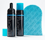 St. Tropez Set of 2 Dark Self Tan Mousse with Mitts - A282335