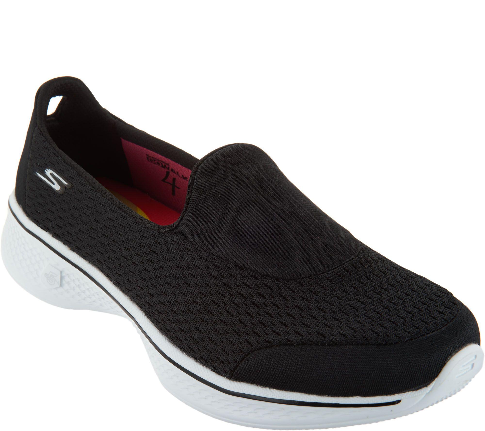 9089e177ddfbc Skechers GOwalk 4 Mesh Slip-ons - Pursuit - Page 1 — QVC.com