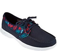 Skechers On-the-GO Printed Canvas Boat Shoes - Cabana - A287835