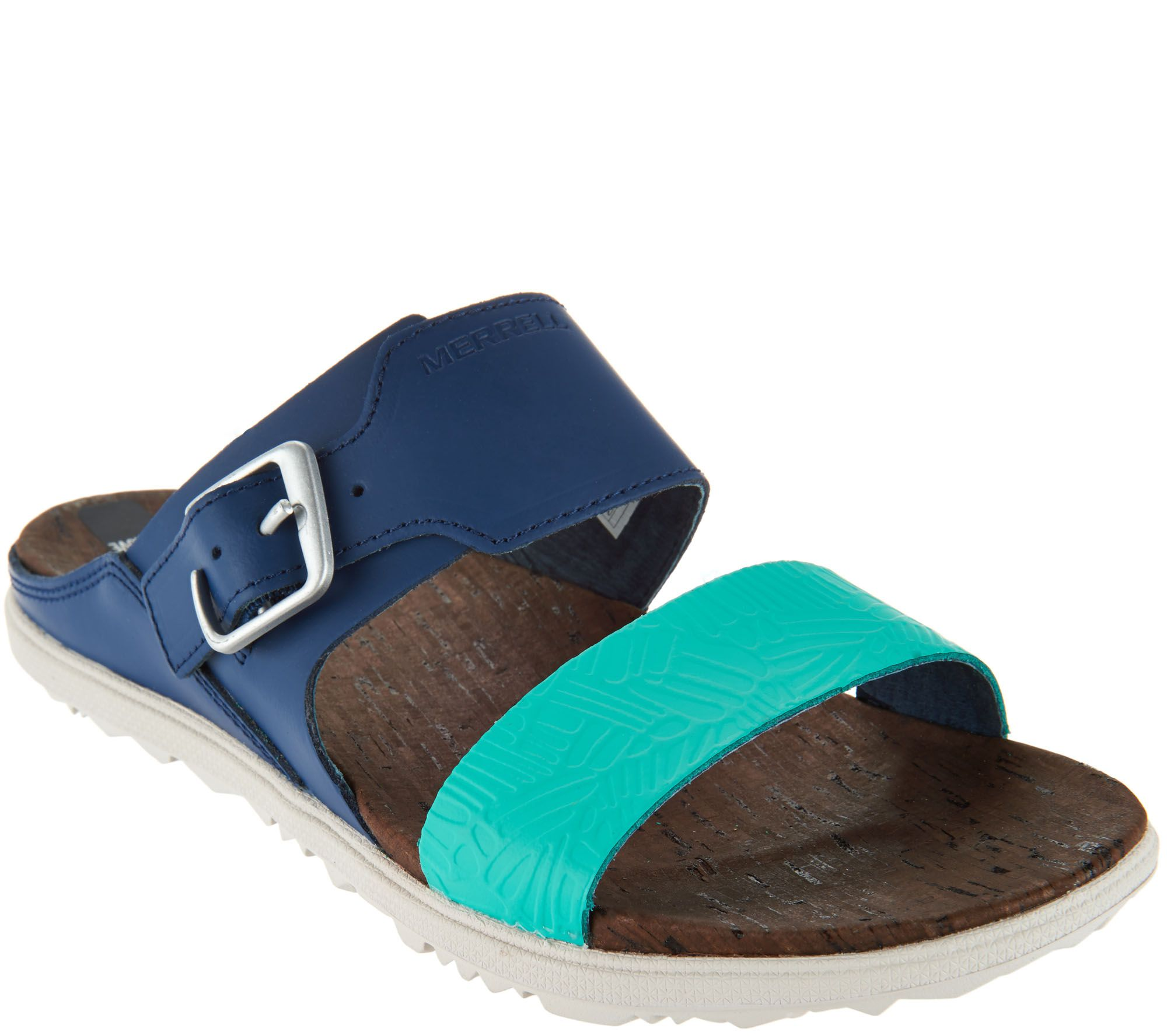4075c27e7b6c Merrell Leather Slide Sandals w  Buckle - Around Town - Page 1 — QVC.com