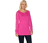 As Is Quacker Factory Rhinestone Chic Raglan Sleeve Tunic - A290635