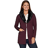 Kelly by Clinton Kelly Ponte Jacket w/ Removable Faux Fur Collar - A297935