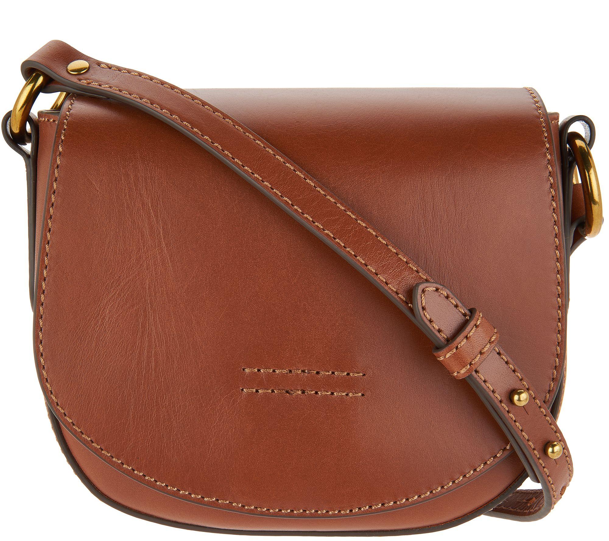 Frye Leather Harness Small Saddle Crossbody Handbag - Page 1 — QVC.com f04defd7c6c70