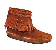 Minnetonka High Top Back Zip Boots - A333435