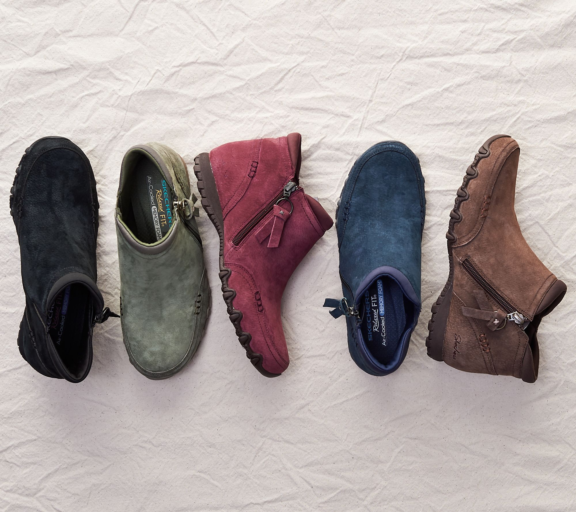 0374c3c67f9 Skechers Relaxed Fit Suede Ankle Boots - Zappiest - Page 1 — QVC.com