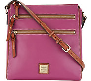 Dooney & Bourke Smooth Leather Large Triple Zip Crossbody - Peyton - A346035