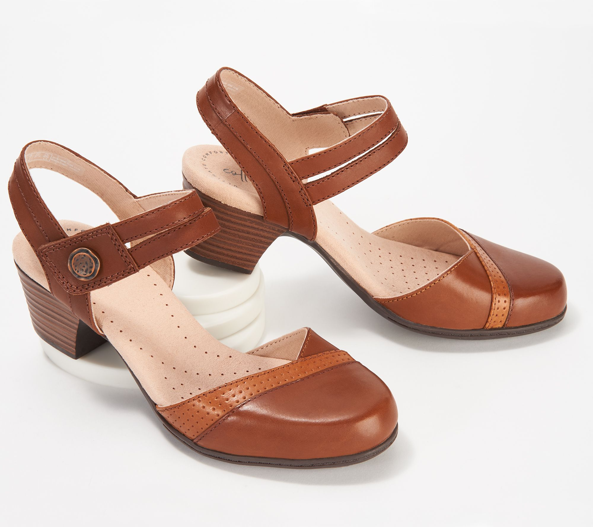 804efe01e Clarks Collection Leather Heeled Mary Janes - Valarie Rally - Page 1 —  QVC.com