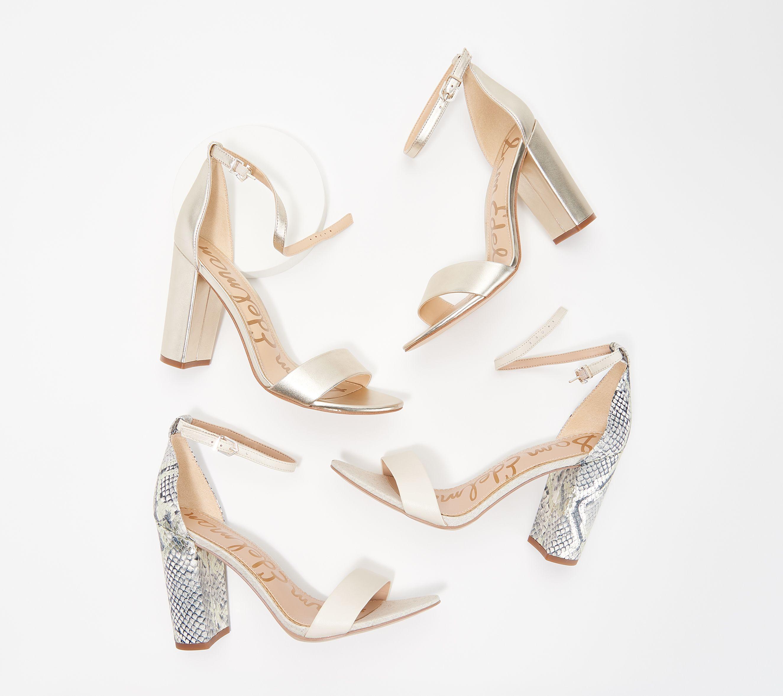 d7cef767183 Sam Edelman Two-Piece Heeled Sandals - Yaro — QVC.com