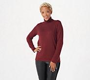Joan Rivers Cashmere Blend Long Sleeve Turtleneck Sweater - A385135
