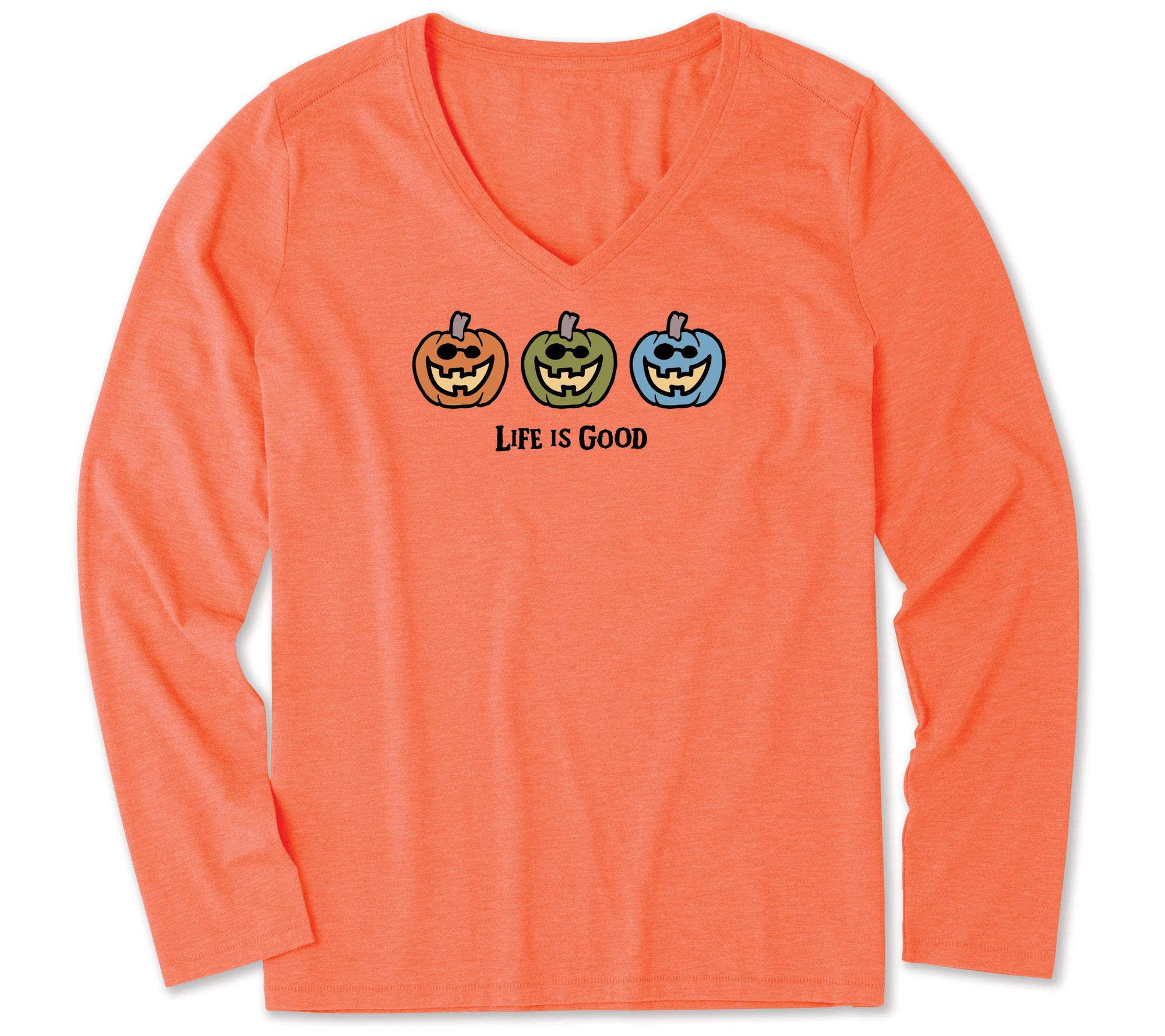 Life is Good Crusher Longsleeve Tee Pumpkin