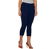 Susan Graver Weekend French Knit Pull-On Capri Jeggings - A263836
