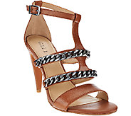 G.I.L.I. Leather Sandals w/ Chain Detail - Nylah - A268136