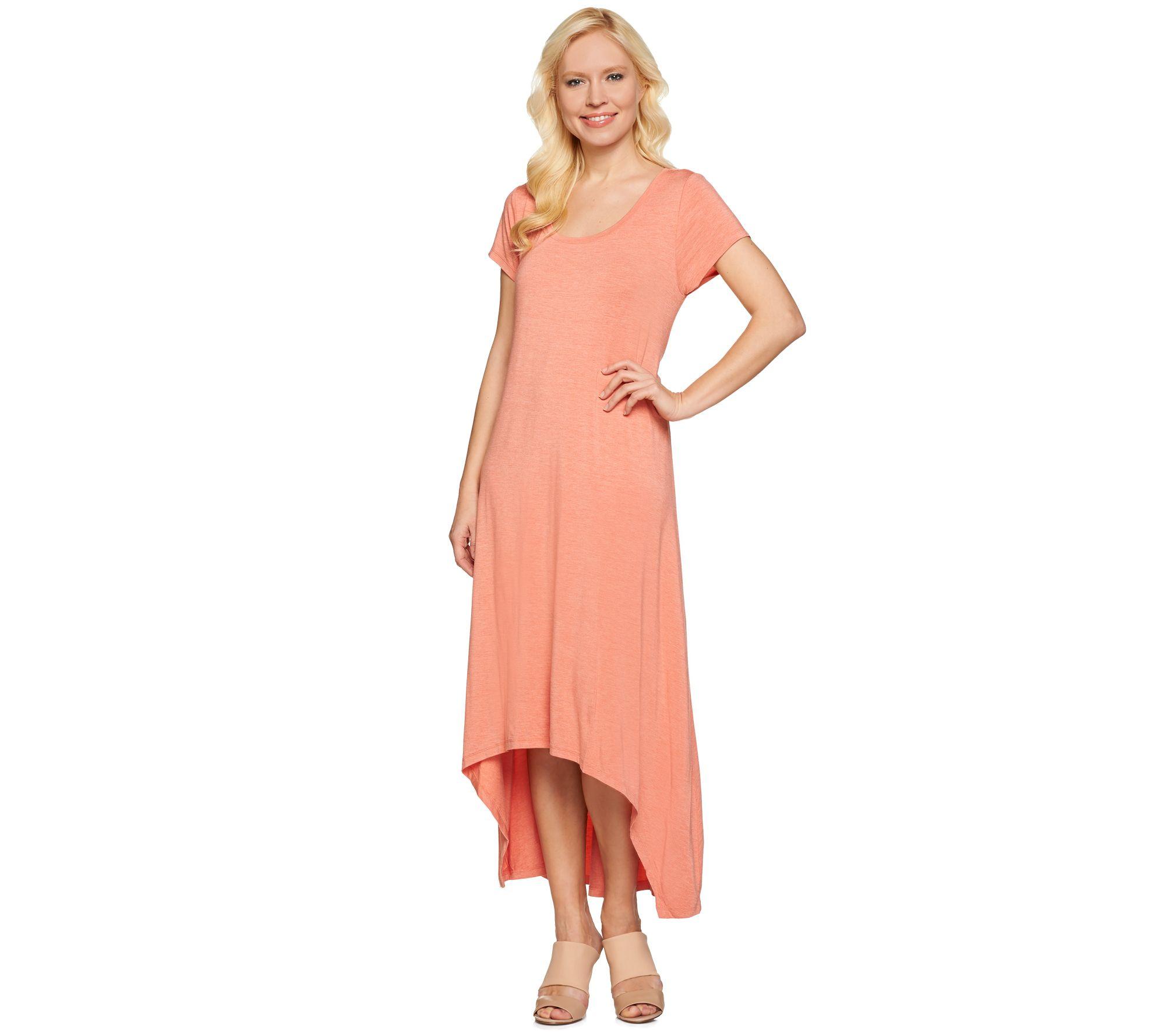 H by Halston Regular Hi-Low Hem Knit Maxi Dress - Page 1 — QVC.com