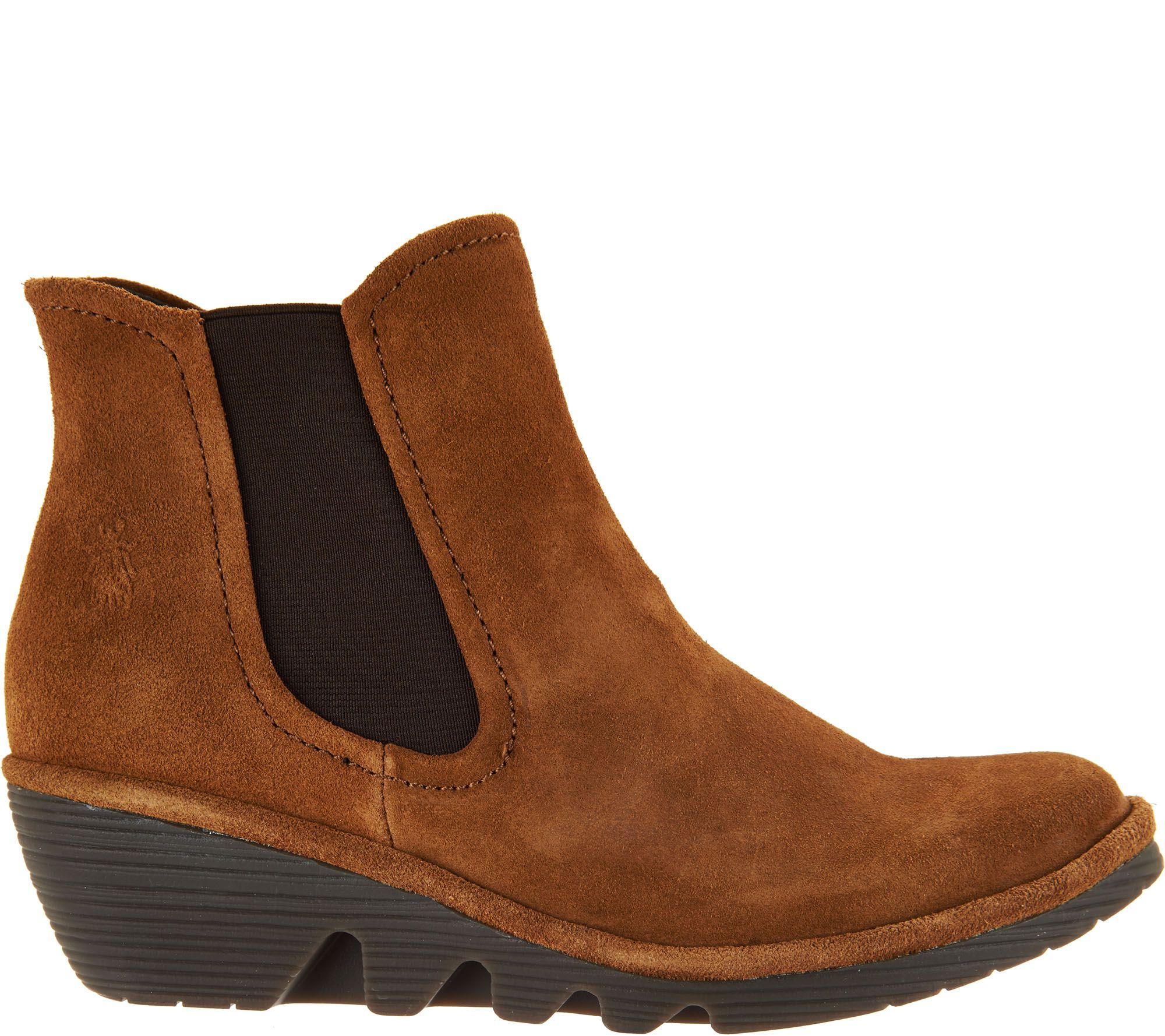 ff3920269dd FLY London Suede Chelsea Boots - Phil — QVC.com
