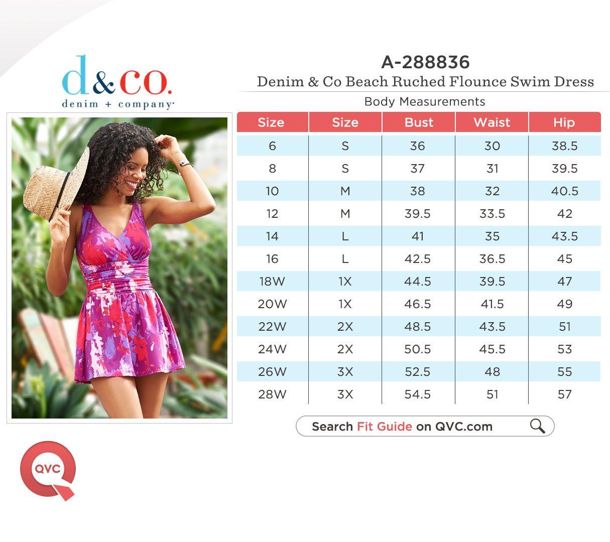 d8c43da361 Denim   Co. Beach Ruched Flounce Swim Dress - Page 1 — QVC.com