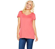 Isaac Mizrahi Live! Essentials Pima Cotton V-Neck Tunic - A289636