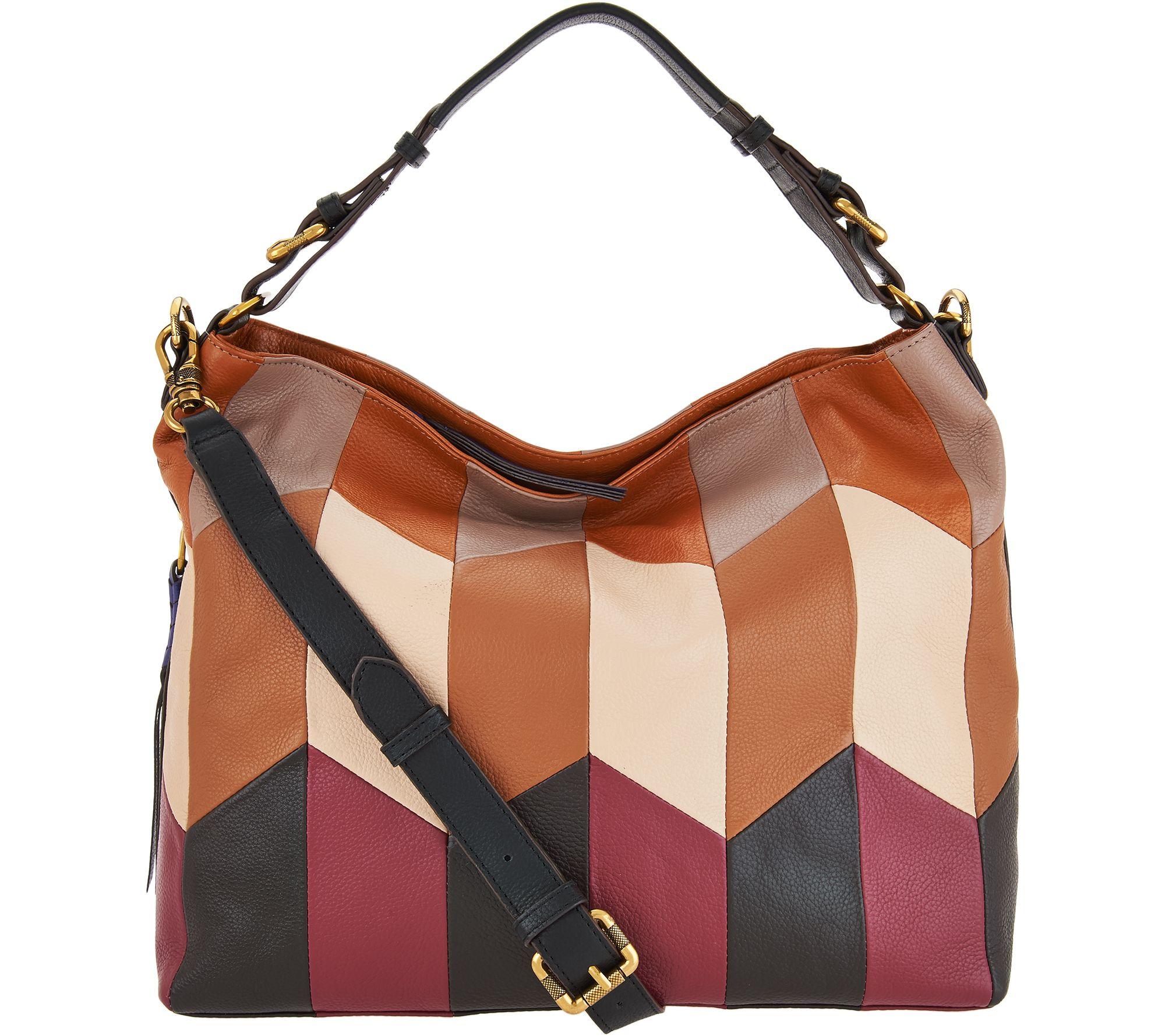 6dd443a7b54d orYANY Pebble Leather Convertible Hobo Handbag -Arlene - Page 1 — QVC.com