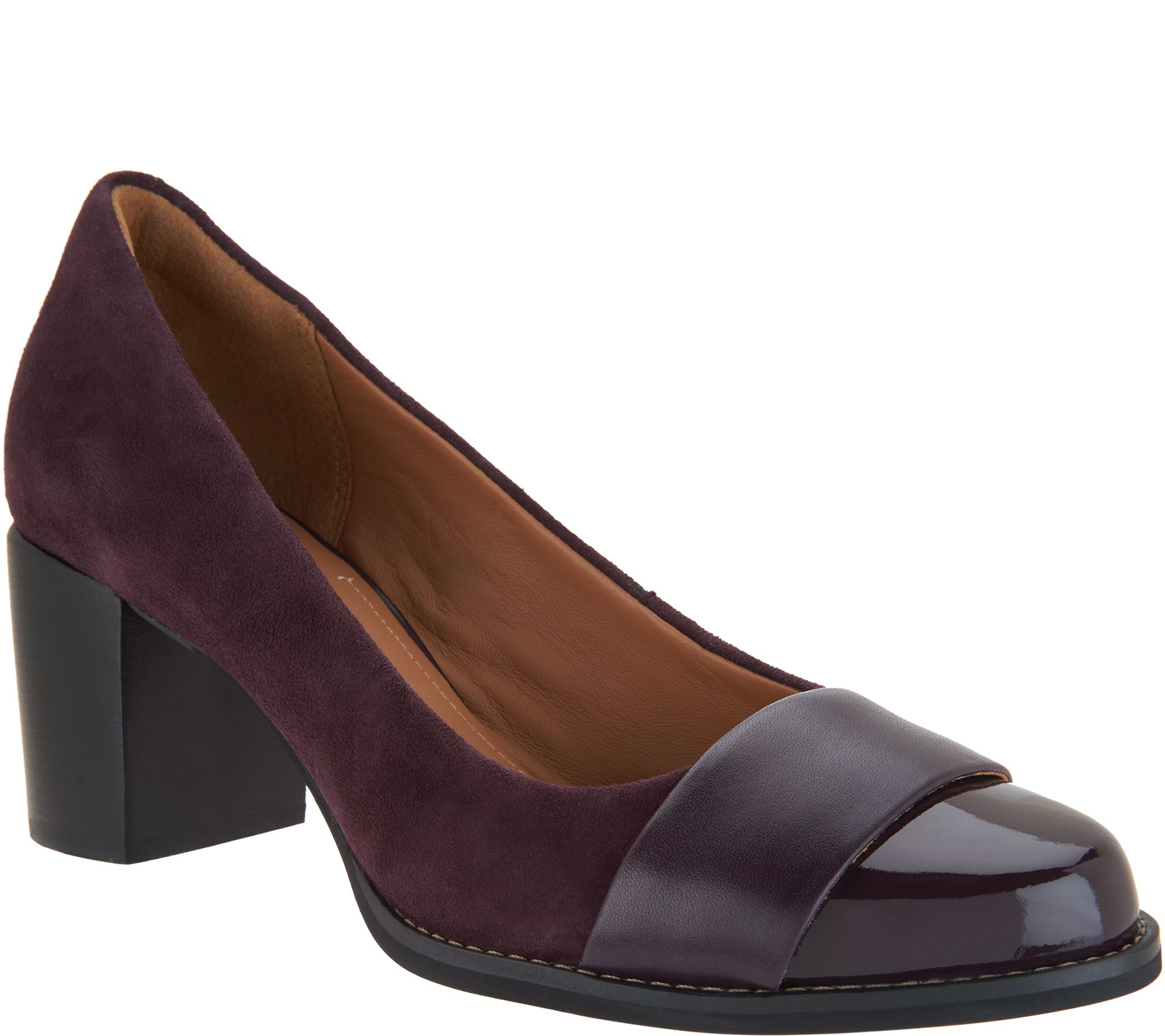 8e4015d9b32 Clarks Artisan Leather and Suede Pumps - Tarah Brae - Page 1 — QVC.com