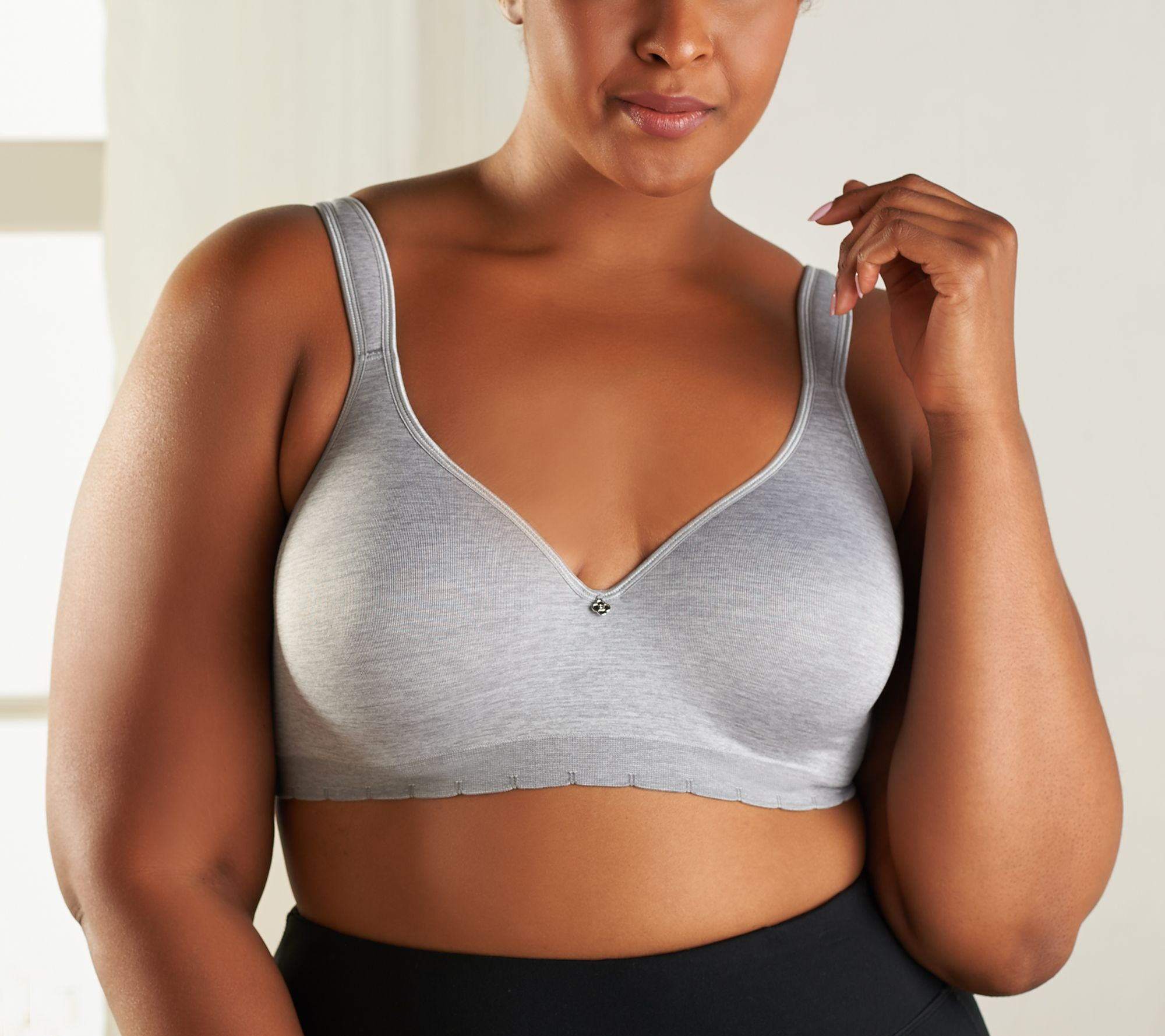 6079feada4458 Breezies Seamless Comfort Underwire T-Shirt Bra - Page 1 — QVC.com