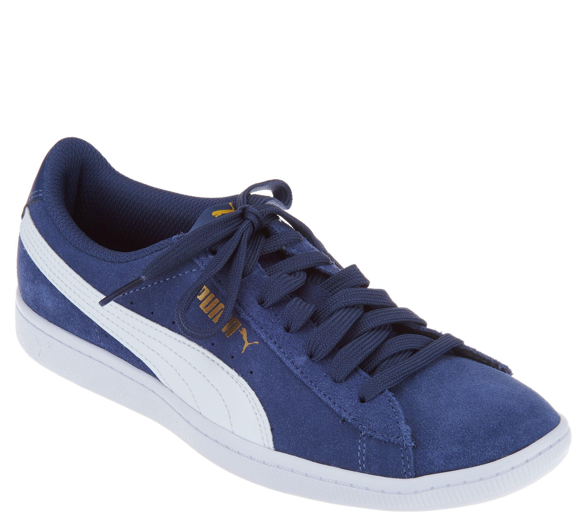 12ed66443a22 Puma Suede Lace Up Sneakers - Vikky Classic - Page 1 — QVC.com
