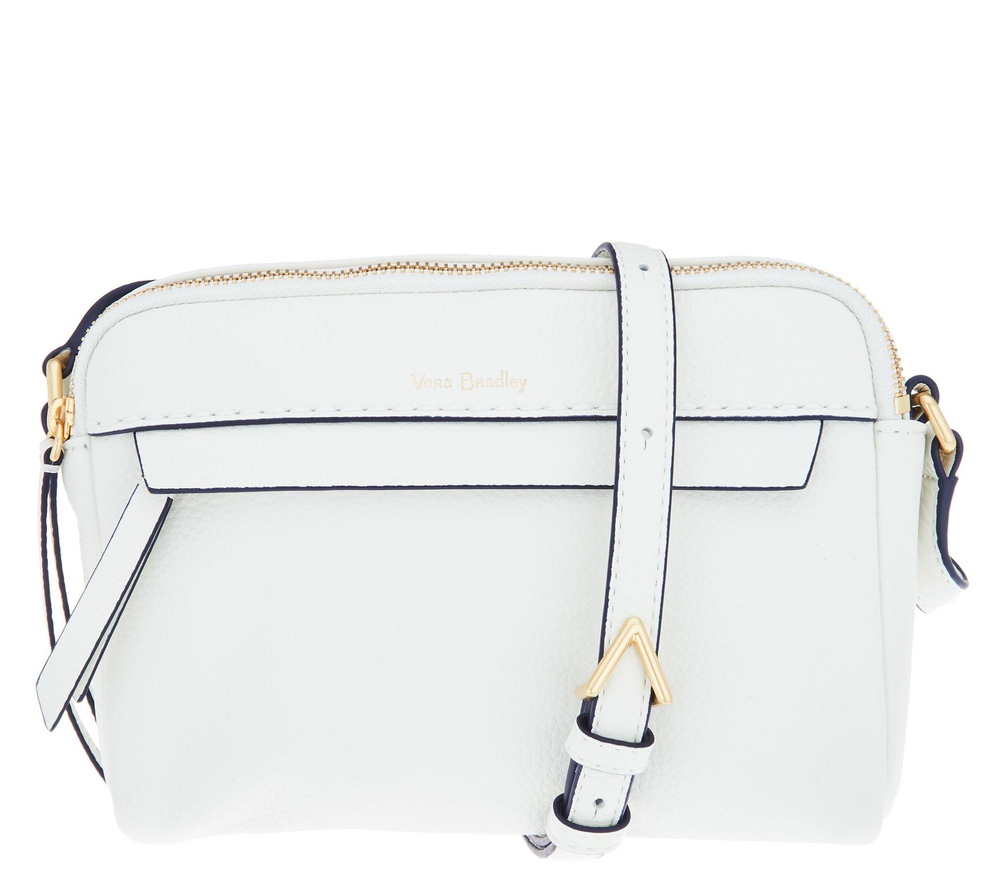 Vera Bradley Leather Mallory Petite RFID Crossbody Bag - Page 1 — QVC.com bbd1179204