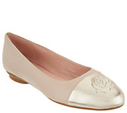 Taryn Rose Leather Ballet Flats - Annabella - A304436