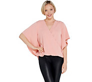 Lisa Rinna Collection Cross Over V-Neck Blouse - A308836