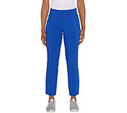 Denim & Co. Active Duo Stretch Straight Leg Ankle Pants - A309336
