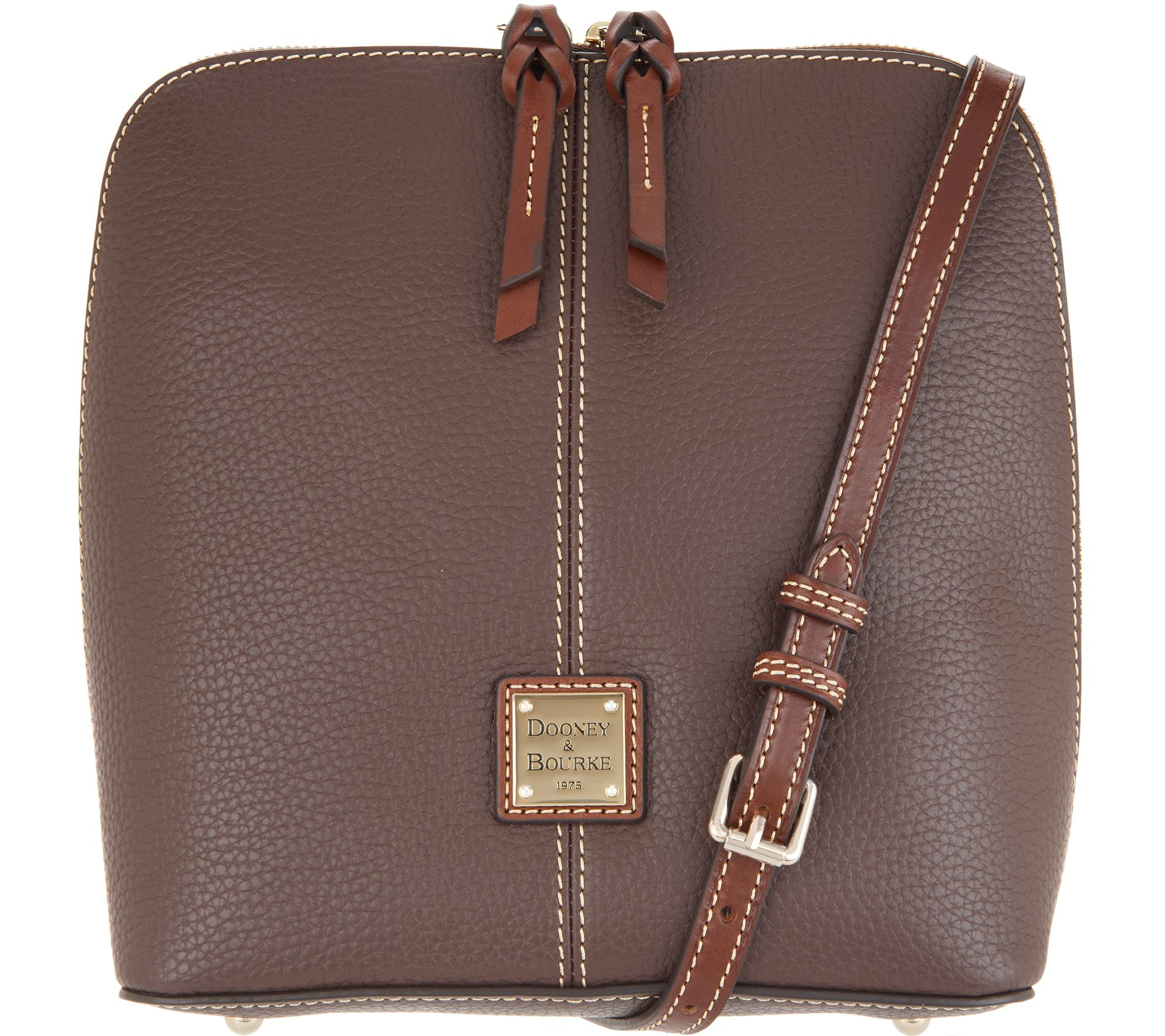 bbd201f64 Dooney & Bourke Pebble Leather Large Crossbody - Trixie - Page 1 — QVC.com