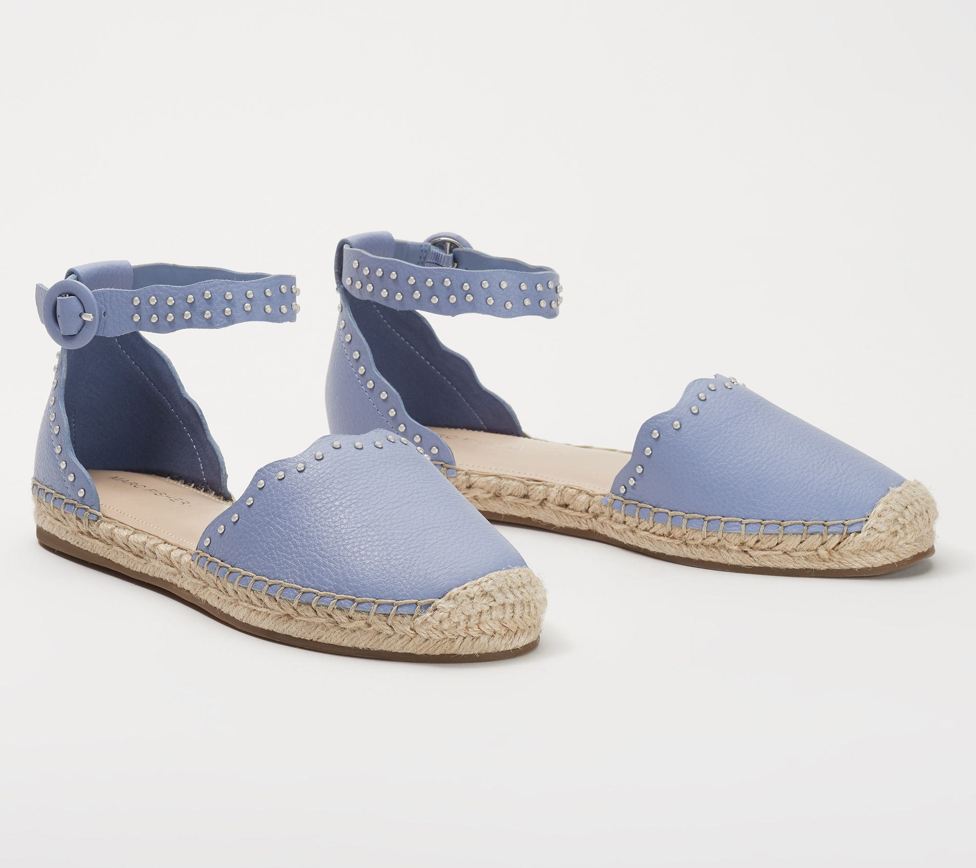 6836760b629 Marc Fisher Leather Espadrilles with Ankle Strap- Jarquis — QVC.com