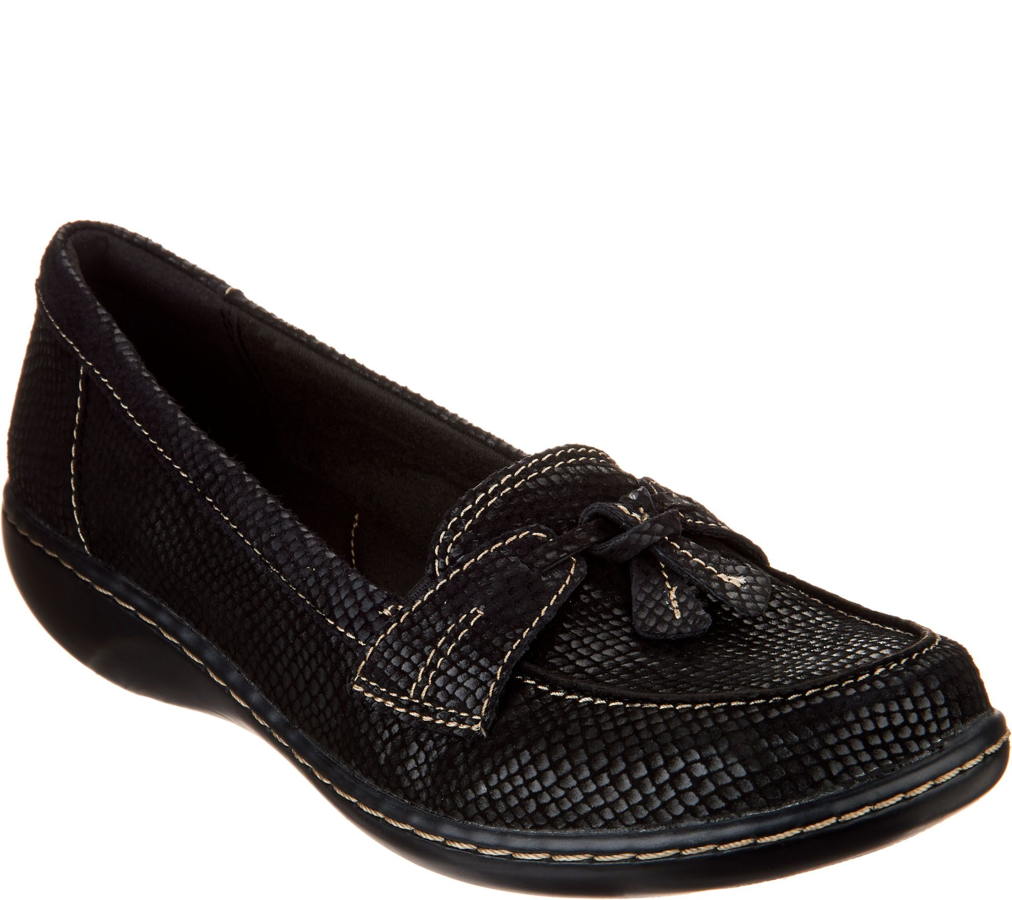546f39c3f0f Clarks Slip-on Loafers - Ashland Bubble - Page 1 — QVC.com