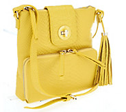 As Is Isaac Mizrahi Live! Bridgehampton Crossbody - A261737