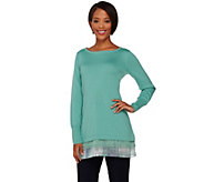 As Is LOGO by Lori Goldstein Regular Cotton Cashmere Sweater - A281237