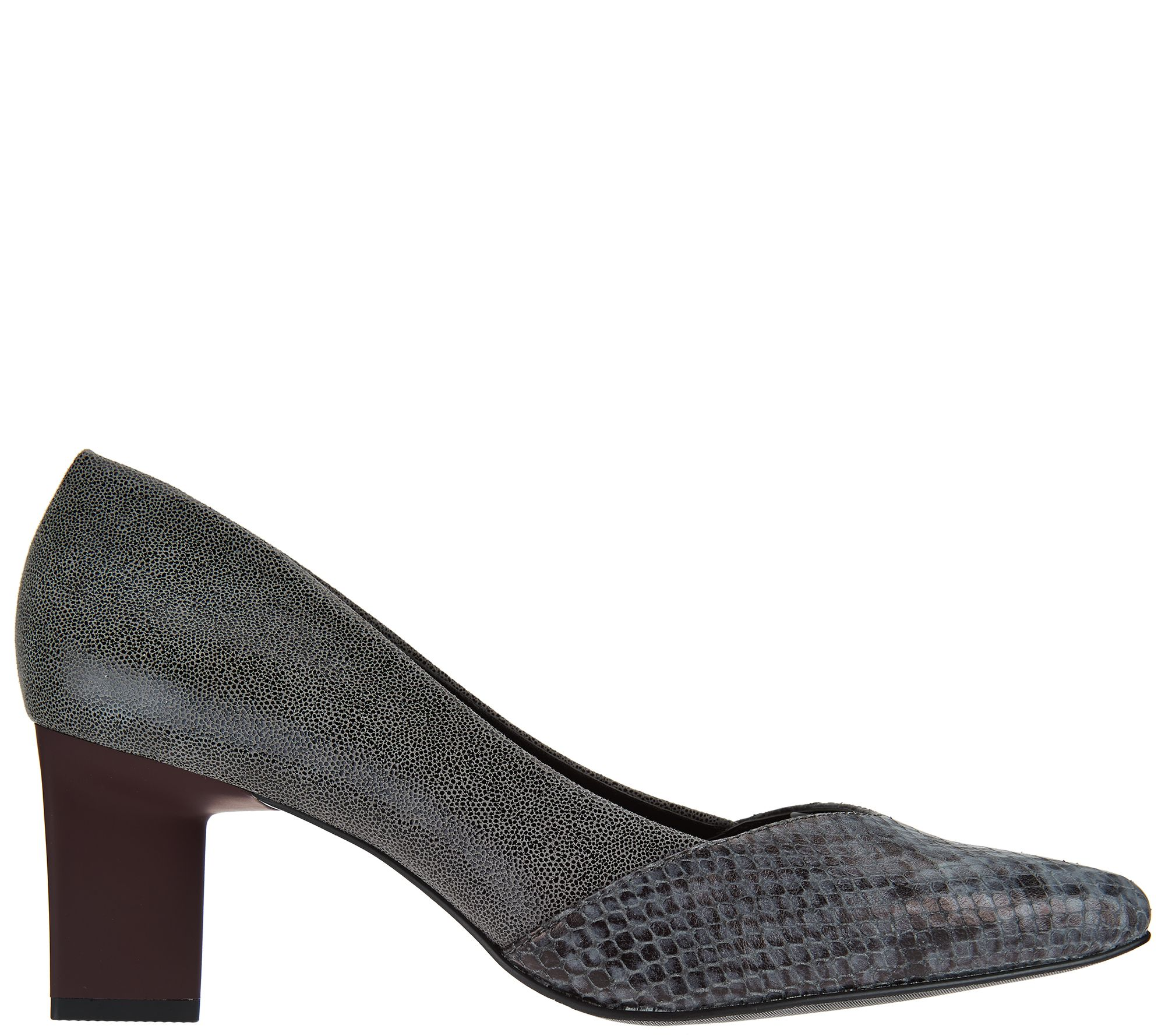 0f45d361118 LOGO by Lori Goldstein Color-Block Triangle Kitten Heels - Page 1 — QVC.com