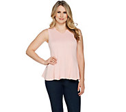 H by Halston Sleeveless Jacquard Peplum Top - A292237