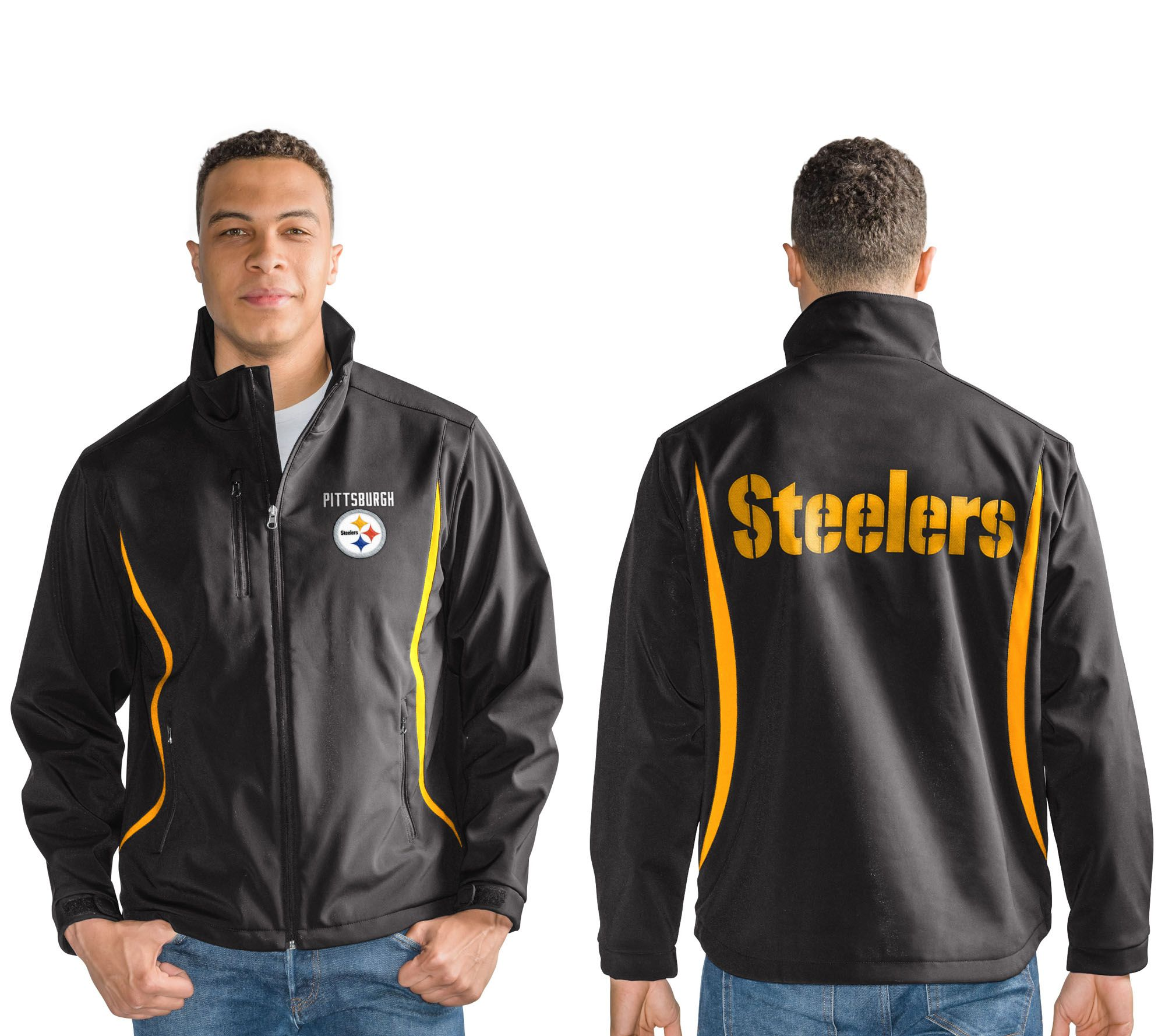 NFL Soft Shell Bonded Jacket with Fleece Interior - Page 1 — QVC.com bde344b8c
