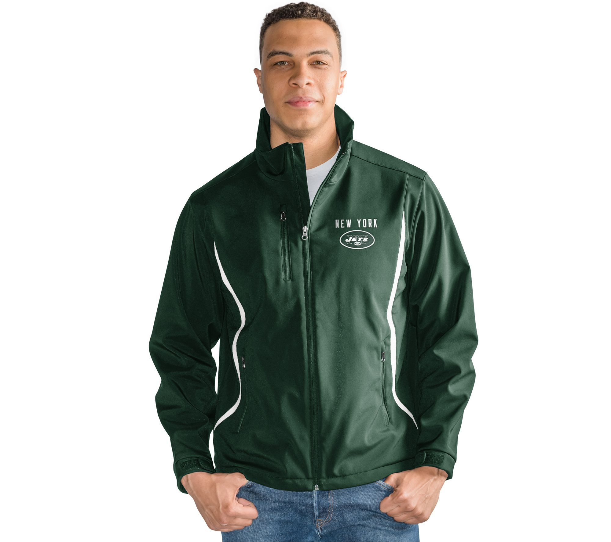 wholesale dealer 42ca9 469f4 NFL Soft Shell Bonded Jacket with Fleece Interior — QVC.com