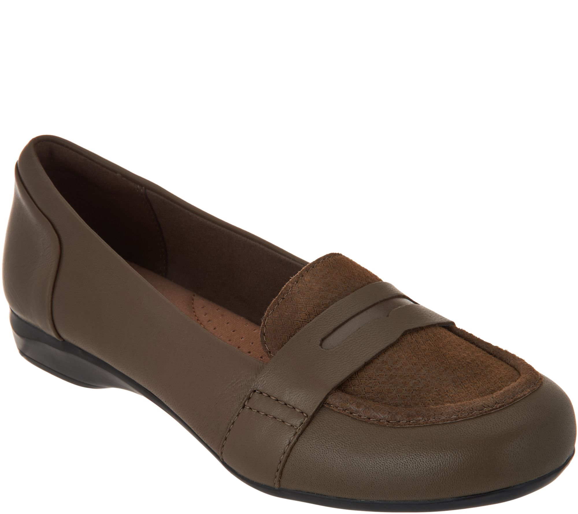 504ccc926 Clarks Leather Slip on Loafers - Kinzie Willow - Page 1 — QVC.com