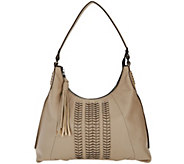 As Is orYANY Pebble Leather Hobo Bag with Braided Detail - Alli - A296637