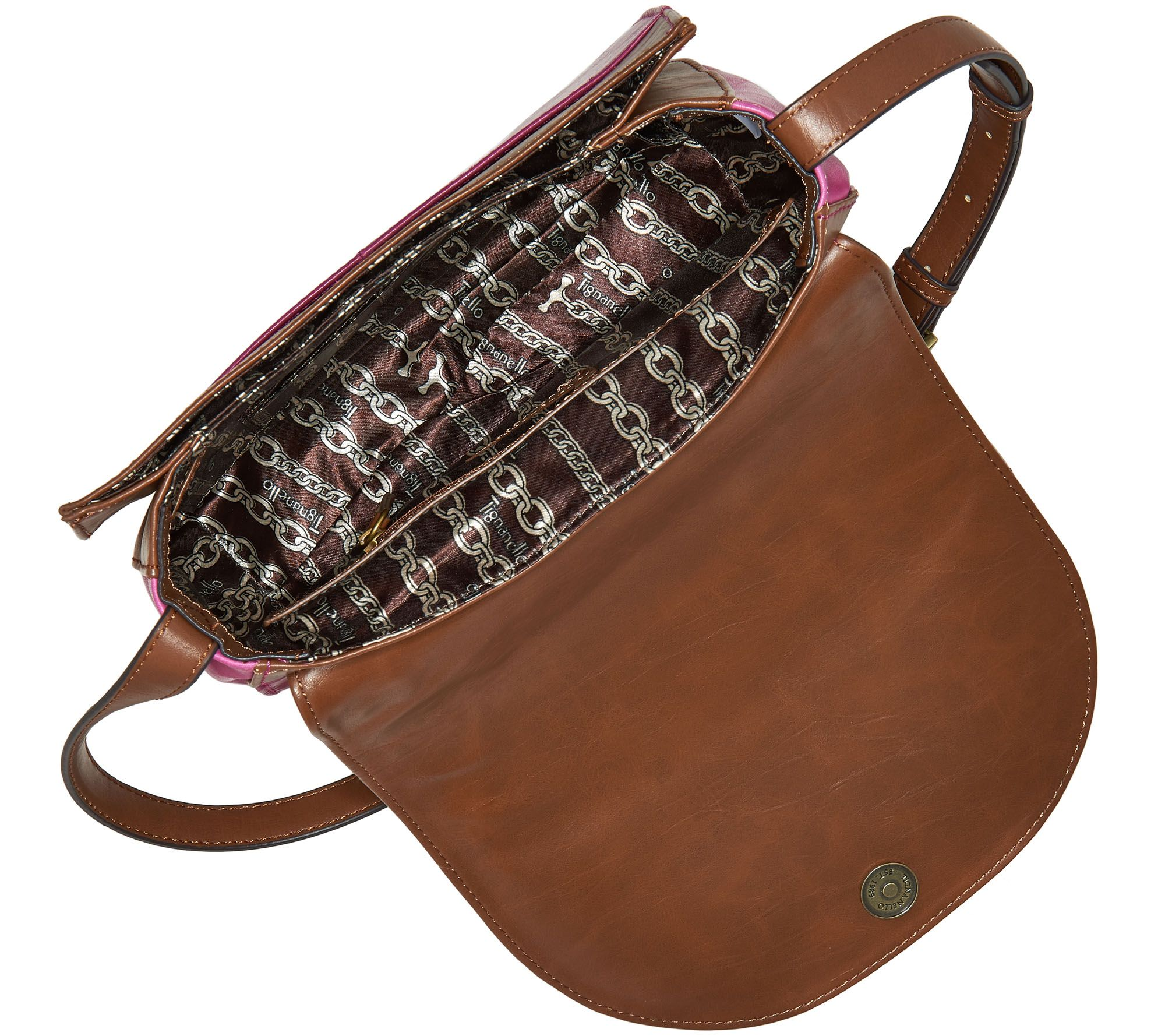 As Is Tignanello Vintage Leather Saddle Bag Page 1 Qvc