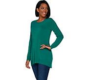 Susan Graver Plush Knit Scoop Neck Sweater - A300537