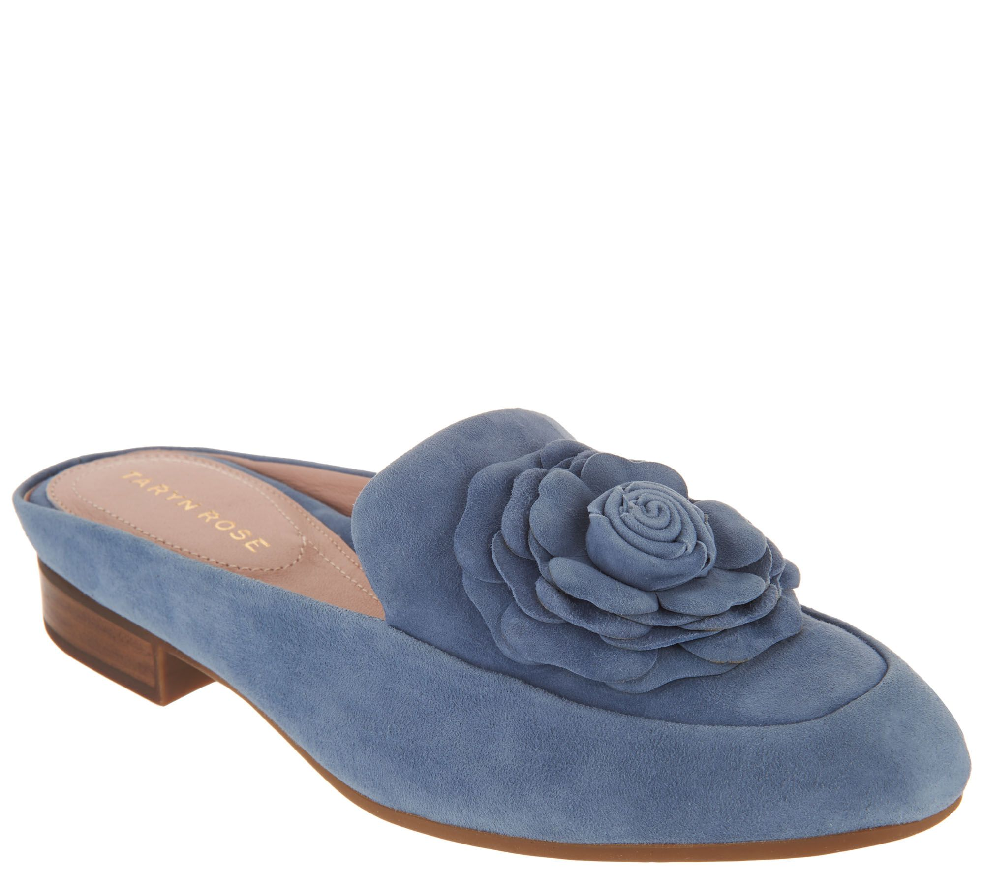 8f034180747ec Taryn Rose Leather or Suede Loafer Mules - Blythe — QVC.com