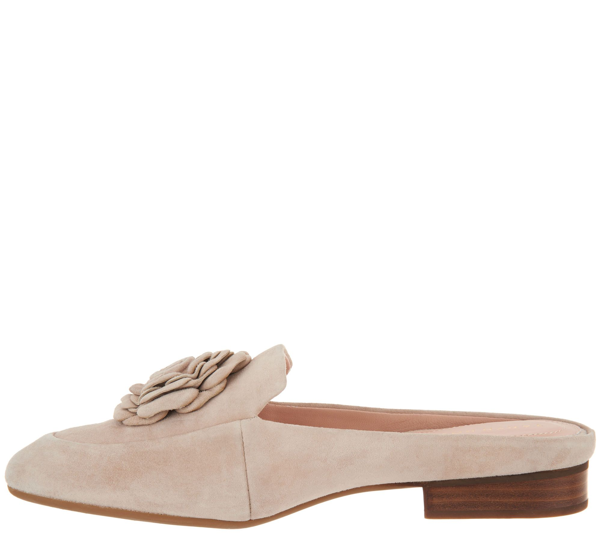 Taryn Rose Blythe Leather Flower Detail Mules SEMBdq2