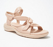 Clarks Leather Lightweight Adjustable Sandals - Saylie Moon - A306037