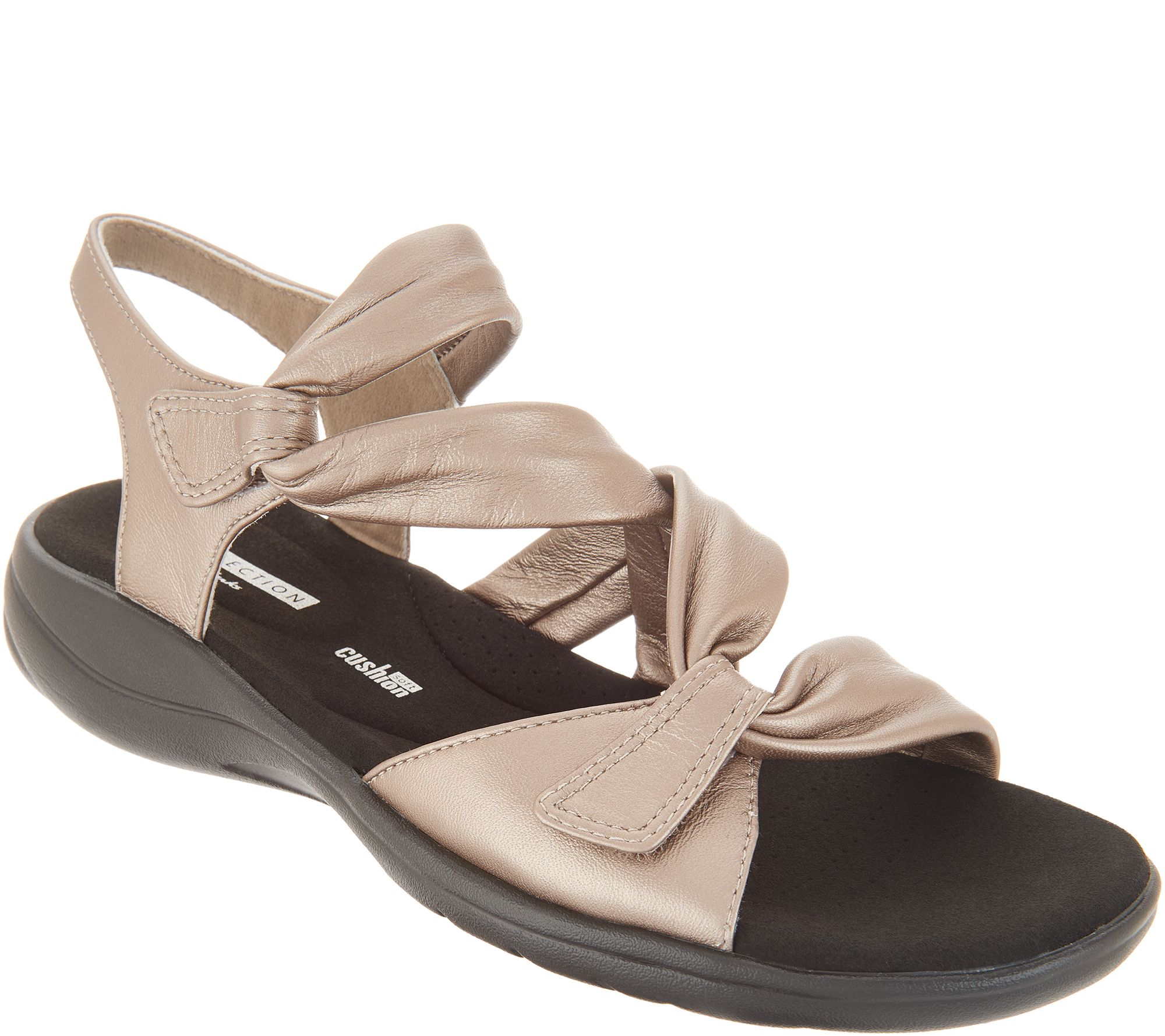 5f140b69bafe3c Clarks Leather Lightweight Adjustable Sandals - Saylie Moon - Page 1 —  QVC.com