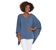 Attitudes by Renee Shadow Stripe Caftan with Tank - A306437