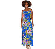 Susan Graver Regular Printed Liquid Knit Maxi Dress - A306537