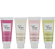 philosophy hands of hope nurturing hand & nail cream 4-piece kit - A307637
