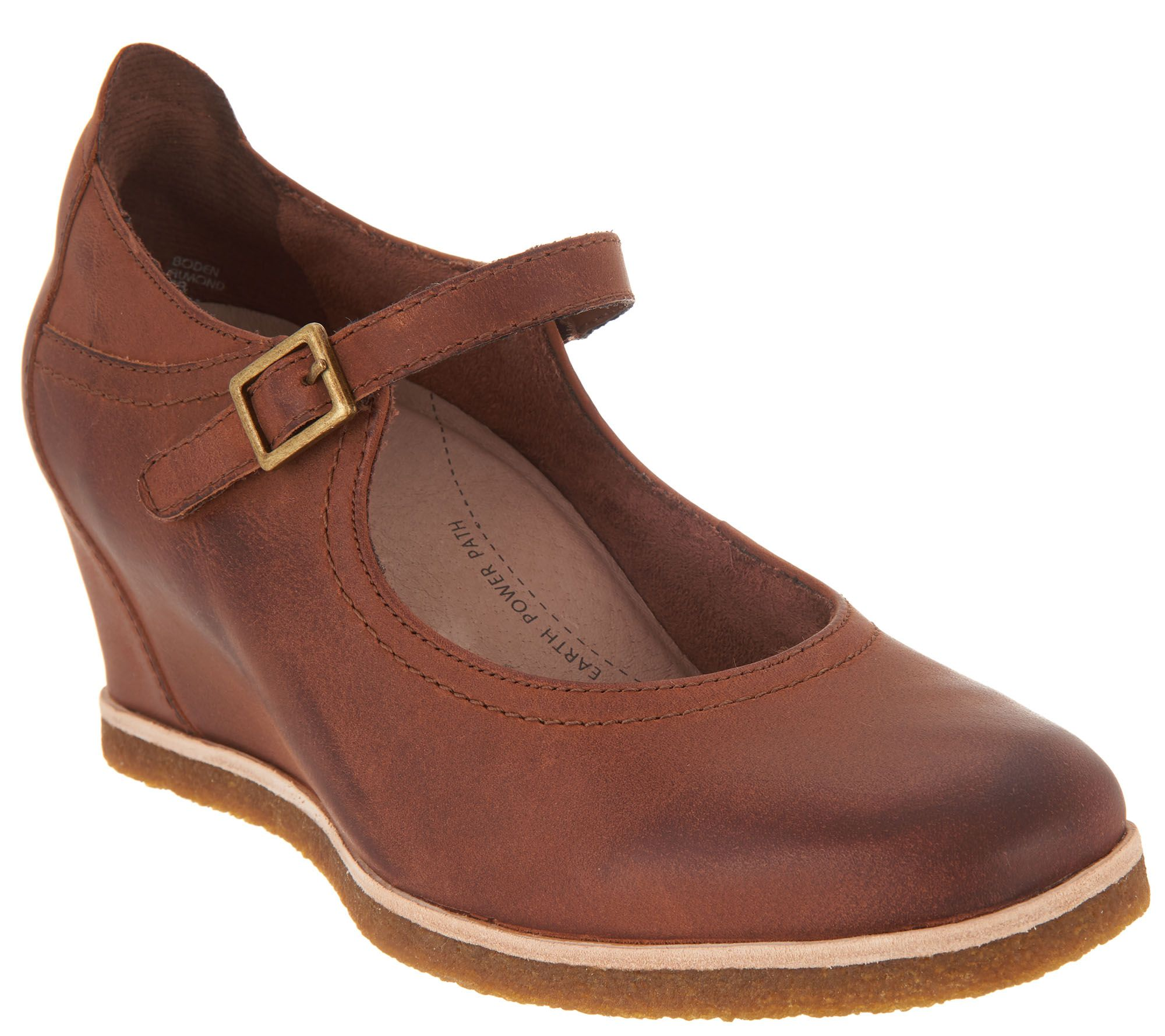 efffbac055c2 Earth Nubuck Wedge Mary Janes - Boden - Page 1 — QVC.com
